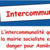 L'intercommunalité préparée par la mairie Socialiste, un danger pour Asnières.