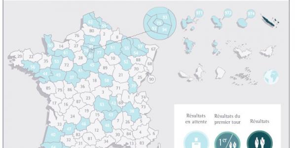 Sénatoriales 2011. Carte des résultats en direct.