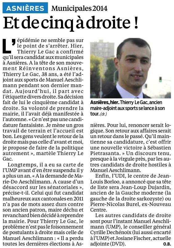 Article - Le parisien du samedi 9 février 2013